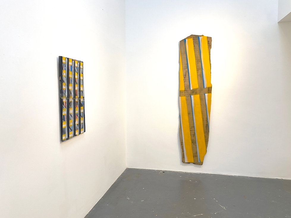 Wall 2, Shared Space, Exhibition, Contemporary works and art collection, Simon Allison, Phyllida Barlow, Bill Hammon, Wilhelm Sasnal, Lockbund Gallery, 2021