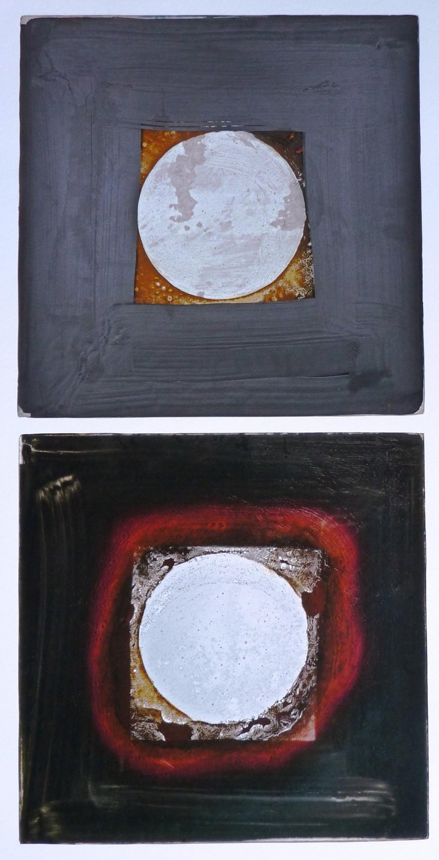 Lunar Plates Dyptych