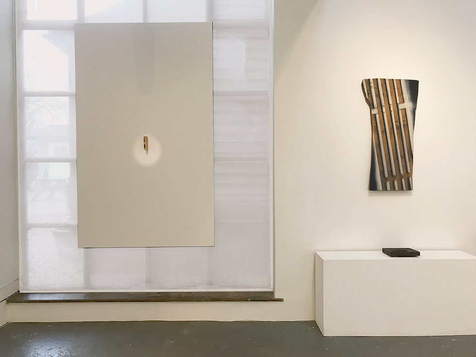 Wall 5, Shared Space, Exhibition, Contemporary works and art collection, Simon Allison, Phyllida Barlow, Bill Hammon, Wilhelm Sasnal, Lockbund Gallery, 2021