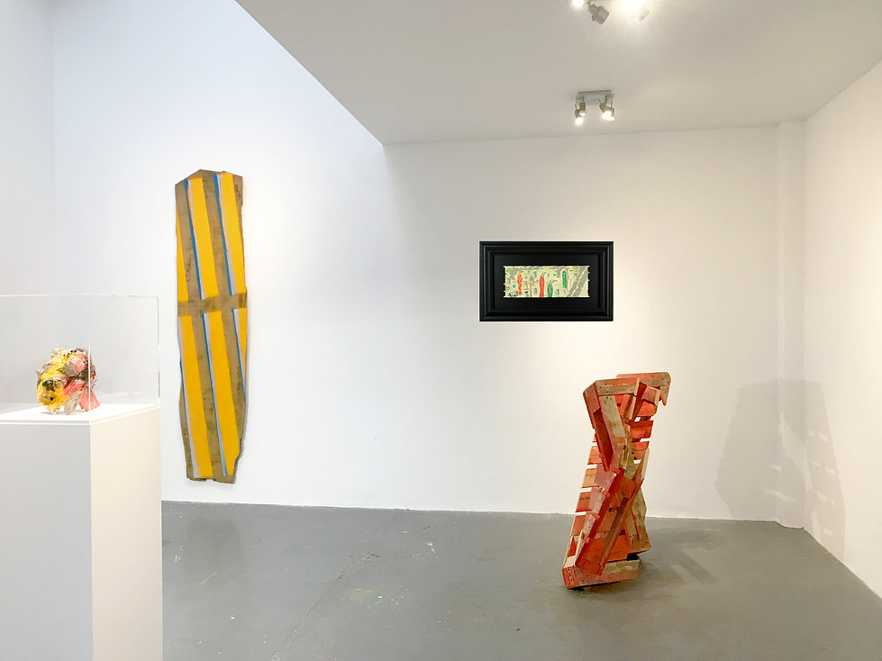 Wall 3, Shared Space, Exhibition, Contemporary works and art collection, Simon Allison, Phyllida Barlow, Bill Hammon, Wilhelm Sasnal, Lockbund Gallery, 2021