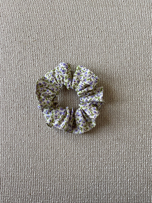 Lilac Floral Hair Scrunchies