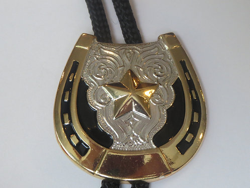 Ivan Gold Silver Tone Horseshoe Star Horse Rider