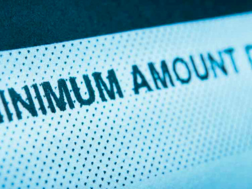 What does Minimum Amount Due on my credit card mean?
