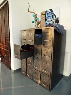 Meuble vintage métal 16 tiroirs