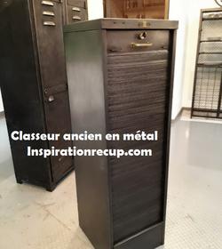 Classeur à rideau ancien en métal
