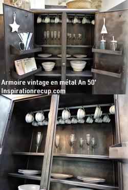 Meuble vintage en métal