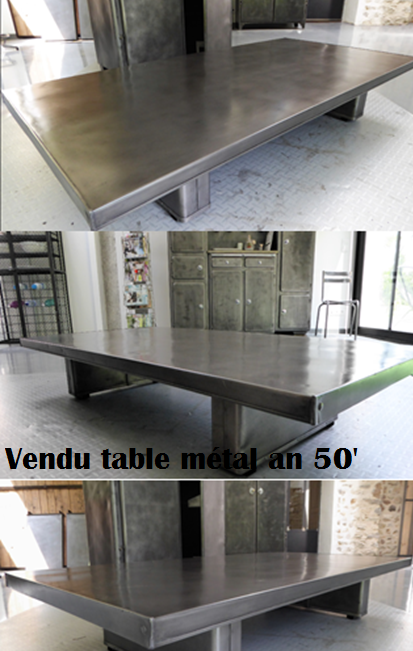 Table métal an 50'