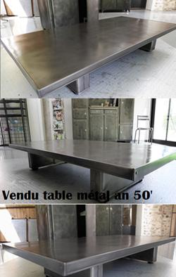 Table métal an 50'
