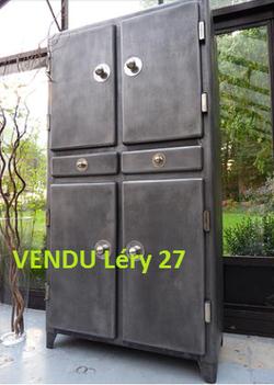 VENDU Meuble métal ancien années 50