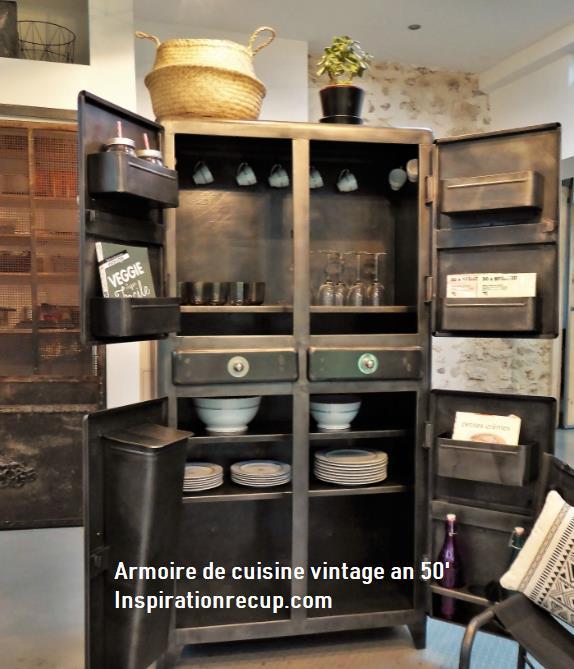 Armoire de cuisine vintage an 50