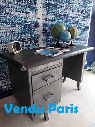 VENDU Bureau métal années 50
