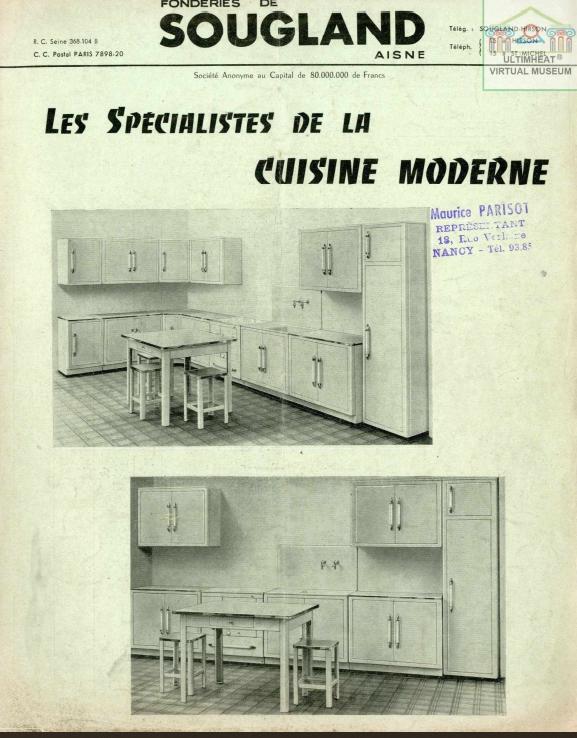 Fonderie Sougland 1955 meubles cuisine