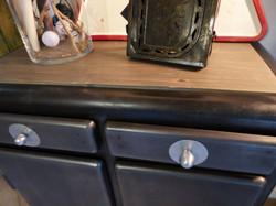 Bahut meuble bas métal an 50'