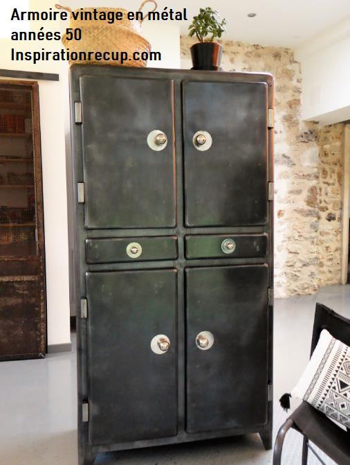Armoire vintage en métal an 50'
