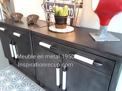 Meuble de cuisine en métal 1950