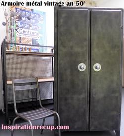 Armoire métal vintage an 50'