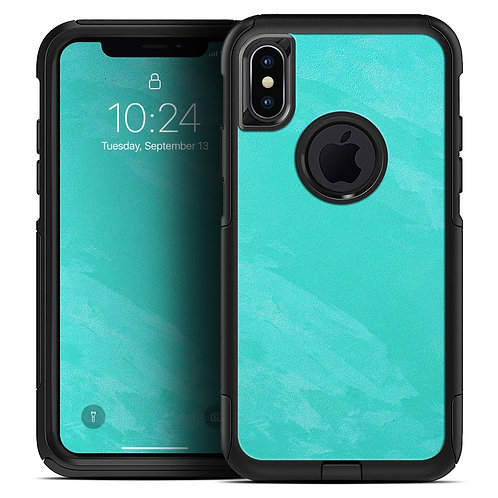 Subtle Neon Turquoise Surface - Skin Kit for the iPhone OtterBox Cases