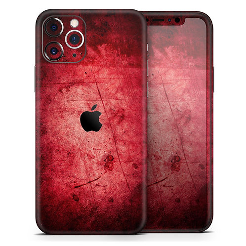 Grungy Red Scratched Surface - Skin-Kit compatible with the Apple