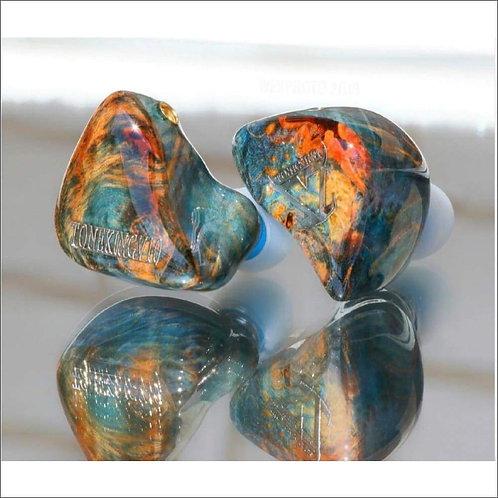 Polished Wood Designer Earbuds