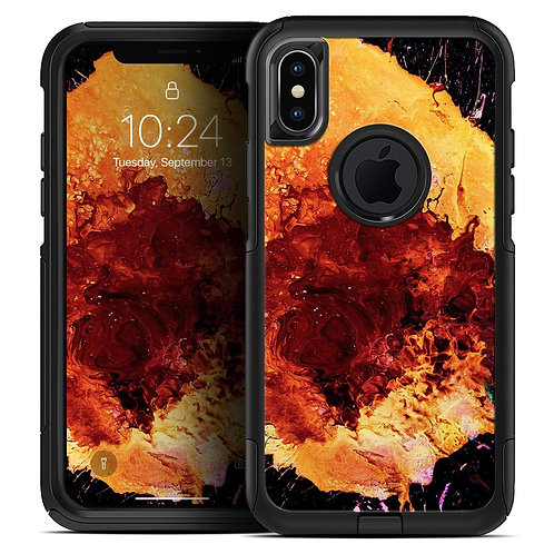 Liquid Abstract Paint V18 - Skin Kit for the iPhone OtterBox Cases