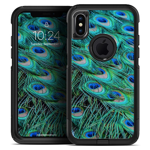 Neon Multiple Peacock - Skin Kit for the iPhone OtterBox Cases