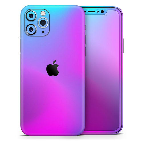 Neon Holographic V1 - Skin-Kit compatible with the Apple iPhone 12, 12