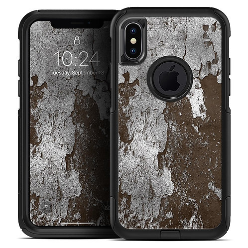 Distressed Silver Texture v16 - Skin Kit for the iPhone OtterBox Cases