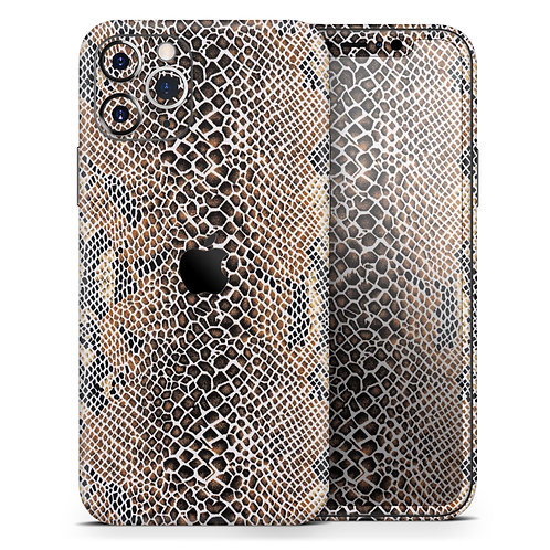 Snake Skin Pattern V2- Skin-Kit compatible with the Apple iPhone 12,