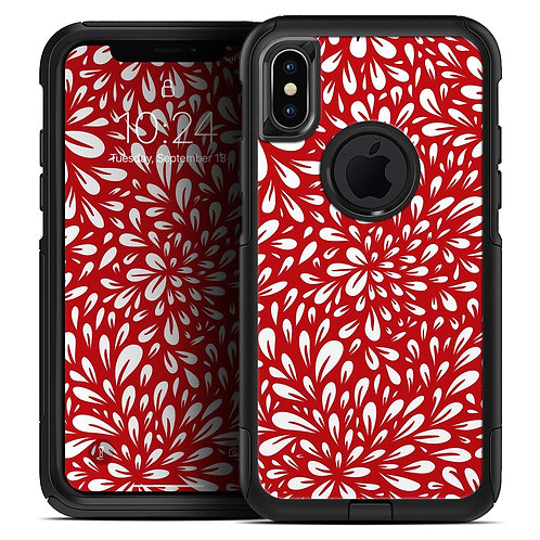 Red Vector Floral Sprout - Skin Kit for the iPhone OtterBox Cases
