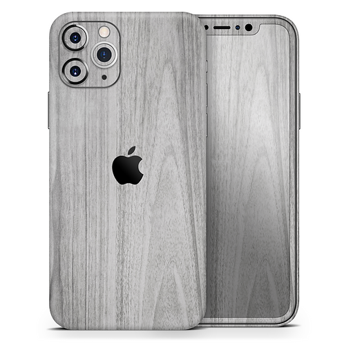 Smooth Gray Wood - Skin-Kit compatible with the Apple iPhone 12, 12