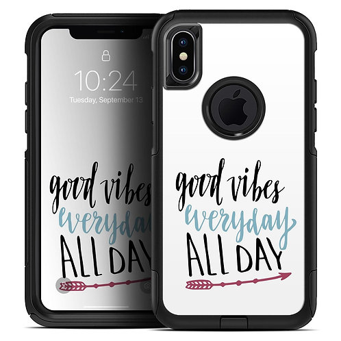Good Vibes Everyday ALL DAY - Skin Kit for the iPhone OtterBox Cases
