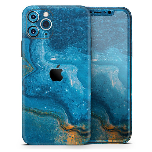 Abstract Oiled Blue Marble - Skin-Kit compatible with the Apple iPhone