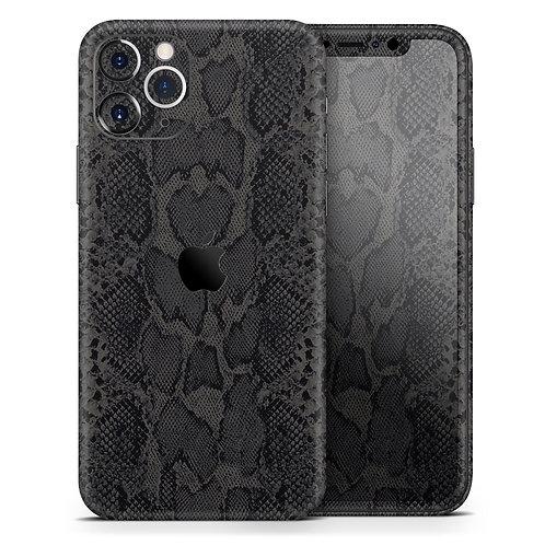 Black Snake Skin v2 - Skin-Kit compatible with the Apple iPhone 12, 12