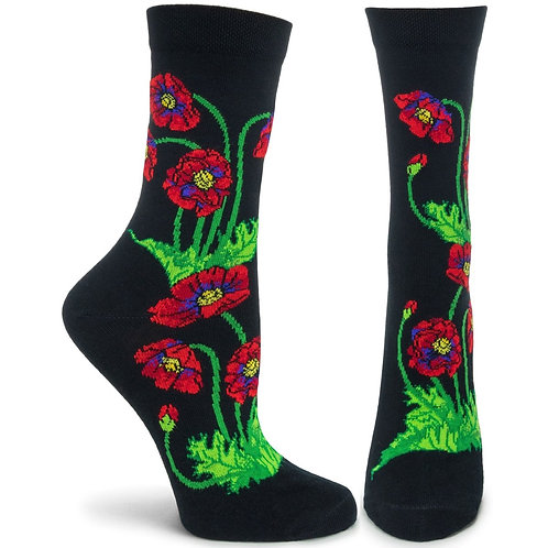 Apothecary Florals - Poppies Sock