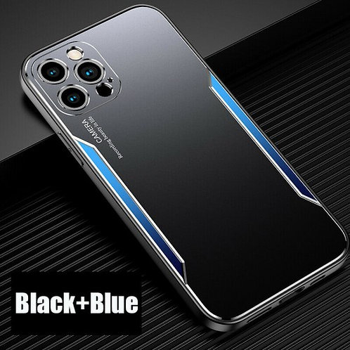 Blade series Metal Case For iPhone 11 Pro Max Black Blue