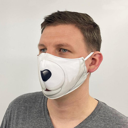 Polar Bear Face Cover