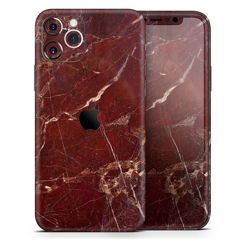 Dark Red Natural Marble Surface - Skin-Kit compatible with the Apple