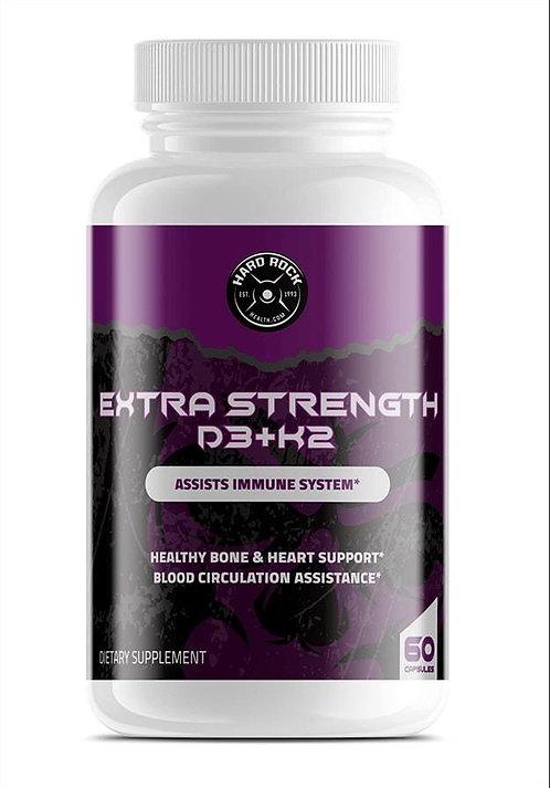 Vitamin D3+K2 for Extra Strength- 60 Capsules