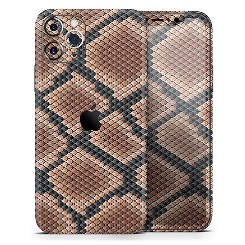 Snake Skin Pattern V1 - Skin-Kit compatible with the Apple iPhone 12,