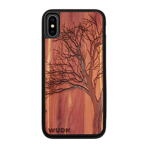 Slim Wooden Phone Case (Winter Tree in Aromatic Cedar)
