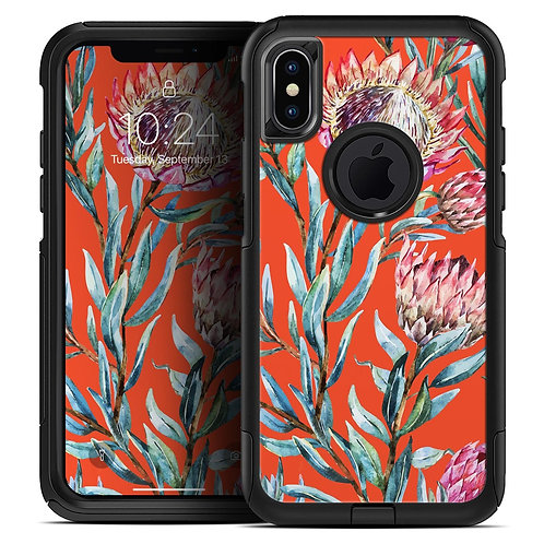 Summer Floral Coral v2 - Skin Kit for the iPhone OtterBox Cases