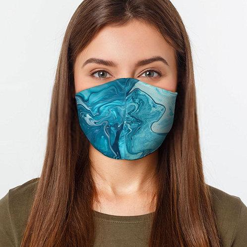 Blue Liquid Face Cover