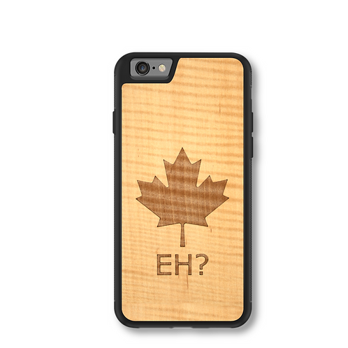 Slim Wooden Phone Case - Canada Eh? In Shimmering Maple