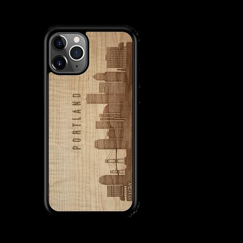 CityScape Wooden Phone Case (Portland OR Skyline)