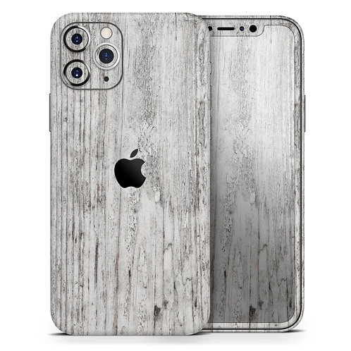 Rough White Wood - Skin-Kit compatible with the Apple iPhone 12, 12