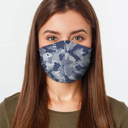 Blue Camo Face Cover