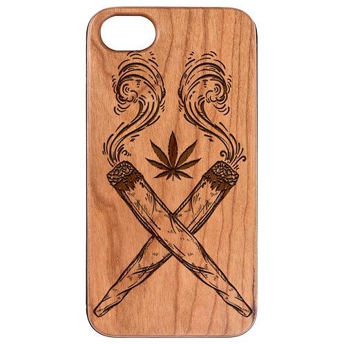Marijuana Leaf - Engraved