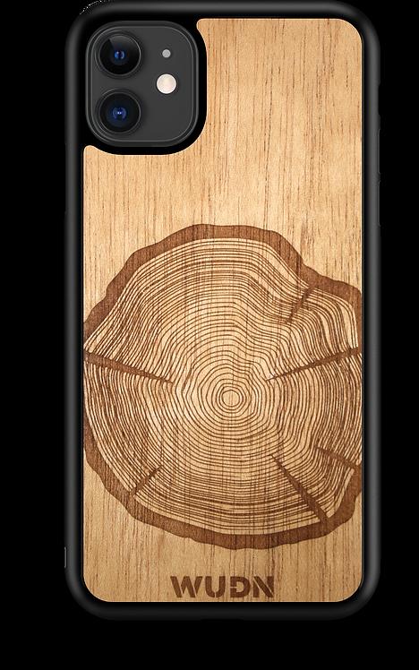 Slim Wooden Phone Case (Tree Stump in Mahogany)