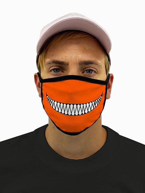 Evil Pumpkin Smile Face Mask  with Filter Pocket