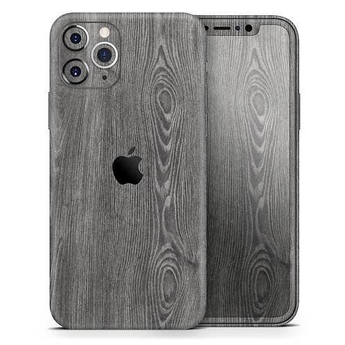 Smooth Gray Wood V2 - Skin-Kit compatible with the Apple iPhone 12, 12